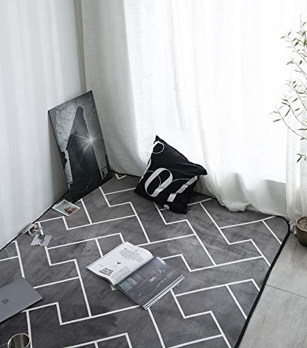 HJFGIRL Dicker Teppich Moderner Geometrischer Kinderzimmerteppich Große Bodenmatte rutschfeste Ungiftige Übungspads Wohnzimmer Schlafzimmer Tatami Matte Home Decorative,B,160x240cm(63x94inch)