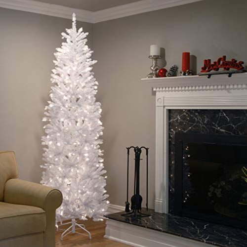 Kingswood White Fir Pencil - 7.5 ft with Lights