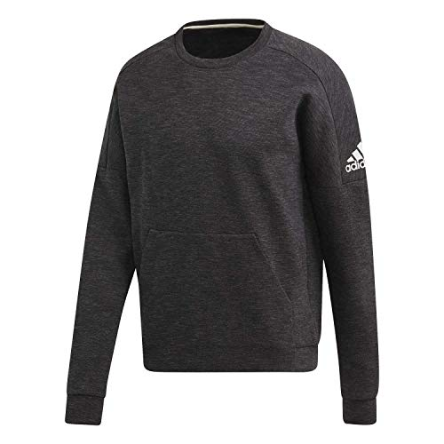adidas Herren Pullover ID Stadium Cr, Black/Grey, S, DU1145