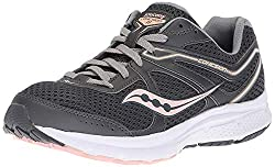 powerful Saucony Cohesion 11 Women's Sneakers, Dark Gray / Peach, 9 M US
