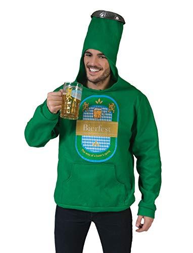 TrendClub100® Disfraz de botella de cerveza, mono de cerveza, disfraz con capucha (cerveza 1)