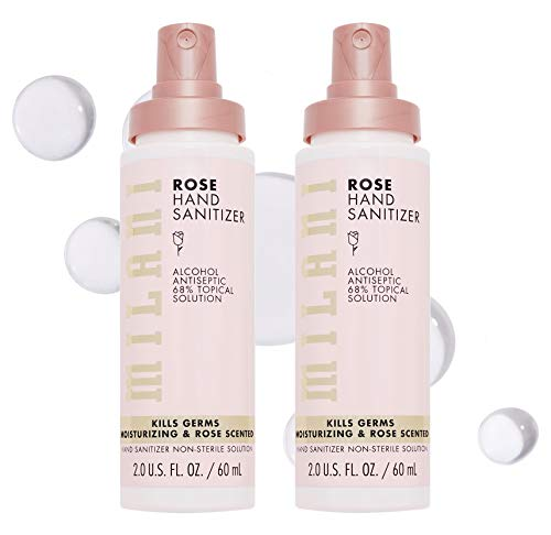 Milani Rose Hand Sanitizer Gel (2 fl oz each) - 2 Pack - Hydrating Gel Hand Sanitizer with Rose Scent, Vegan and Cruelty Free, Fast Drying Washless Hand Soap Gel With Alcohol