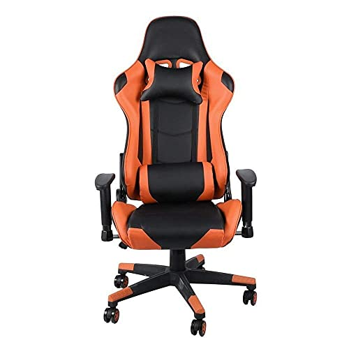 Video Game Chair,Rotating Ergonomic Gaming Chair Office Chair Racing Chair Home Desk Chair Lumbar Support Neck Protection with Backrest