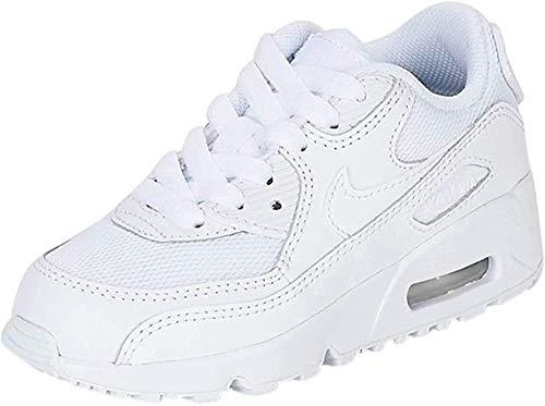 Nike Air Max 90 Mesh (Ps), Zapatillas deportivas unisex para bebés, color Blanco, talla 11 M US