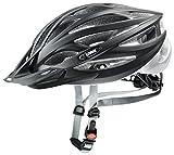 Uvex Oversize Casco de Bicicleta, Adultos Unisex, Black Mat Silver, 61-65 cm