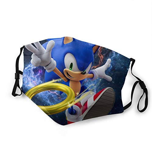 Sonic The Hedgehog Face Mask Windproof Face Cover Reusable Mouth Cover for Outdoor, Festivals, Sports(1-Pack)