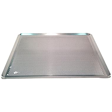 Sasa Demarle HG330460 Aluminum Perforated Sheet Pan, 18  Length, 13  Width, 1  Height