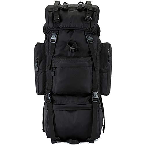 Interner Rahmen Trekking Rucksäcke Mit Regenschutz, 100l Militärische Taktischer Wasserdicht Wanderrucksack Gepäckbeutel-a 100l