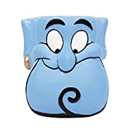 Officially licensed Disney merchandise by Half Moon Bay Shaped like Aladdin's Genie Features hand painted details Will grant your wish for tea Not dishwasher or microwave safe
