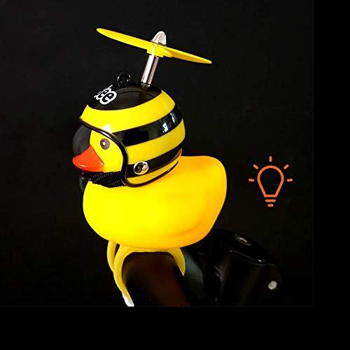 Fahrraddekorationen, Kleine Gelbe Ente Tragen Helmpropeller Mit Lichtern, Warnlichter Dekorationen Sind Geeignet Für Fahrräder Motorrad Auto