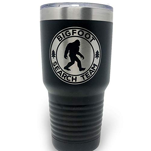 Bigfoot Search Team Tumbler Gifts for Outdoorsmen Sasquatch Coffee Travel Mug - Stainless Steel Cup 30 oz