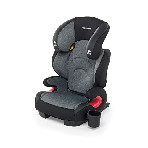 Foppapedretti Best duoFix Seggiolino Auto Omologato, Gruppo 2-3 (15-36 kg), per Bambini da 3 a 12 Anni, Carbon