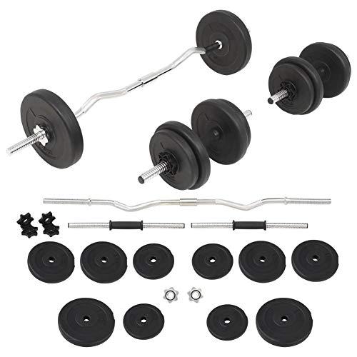 AYNEFY - Juego de pesas y mancuernas de 30 kg, discos de peso, juego de pesas cortas, mancuernas y mancuernas efectivas, entrenamiento de fuerza
