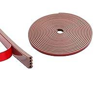 各種サイズ厳選 シリコーンゴム素材 隙間テープ すき間テープ 窓用エアコン防音 防水 厚手静音テープ 気密防水パッキン 9mm(幅)x4mm(厚さ)-褐色