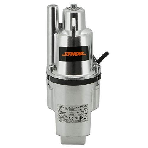 Membran-Pumpe 280 Watt 1.020 l/h Förderhöhe 68 m Ø 100 mm Wasser Rohrpumpe Förderpumpe Brunnenpumpe