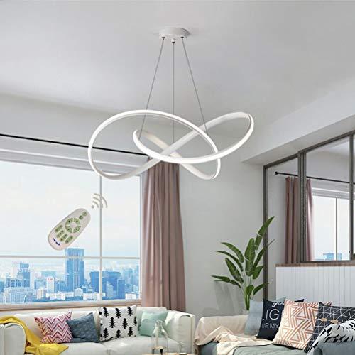 Lámpara LED para comedor o sala de estar, regulable, 3000 - 6500 K, de acrílico, diseño moderno, altura regulable, para...