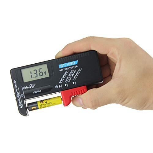 Babysbreath17 Bot/ón BT-168D Digital probador de la bater/ía de 9V del inspector Voltios 1.5V pila recargable AA AAA C D Prueba de bater/ía universal