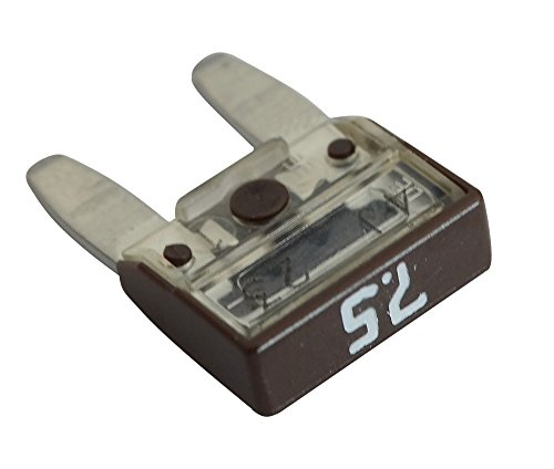 AERZETIX: 10 zekeringen 7.5A bruin 11,9 mm 6V 12V 24V 36V