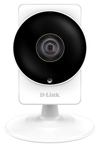 D-Link DCS-8200LH Videocamera di Sorveglianza HD, Wireless AC, Visuale Panoramica da 180°, Bianco/Nero
