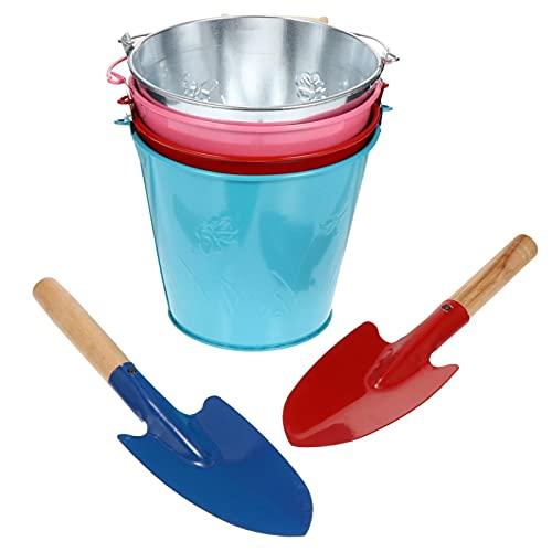 ZYYYWW Pala de Playa, 6 unids jardín Playa Arena Tocando cubeta niños Bucket con Pala Juguete (Color : Assorted Color)
