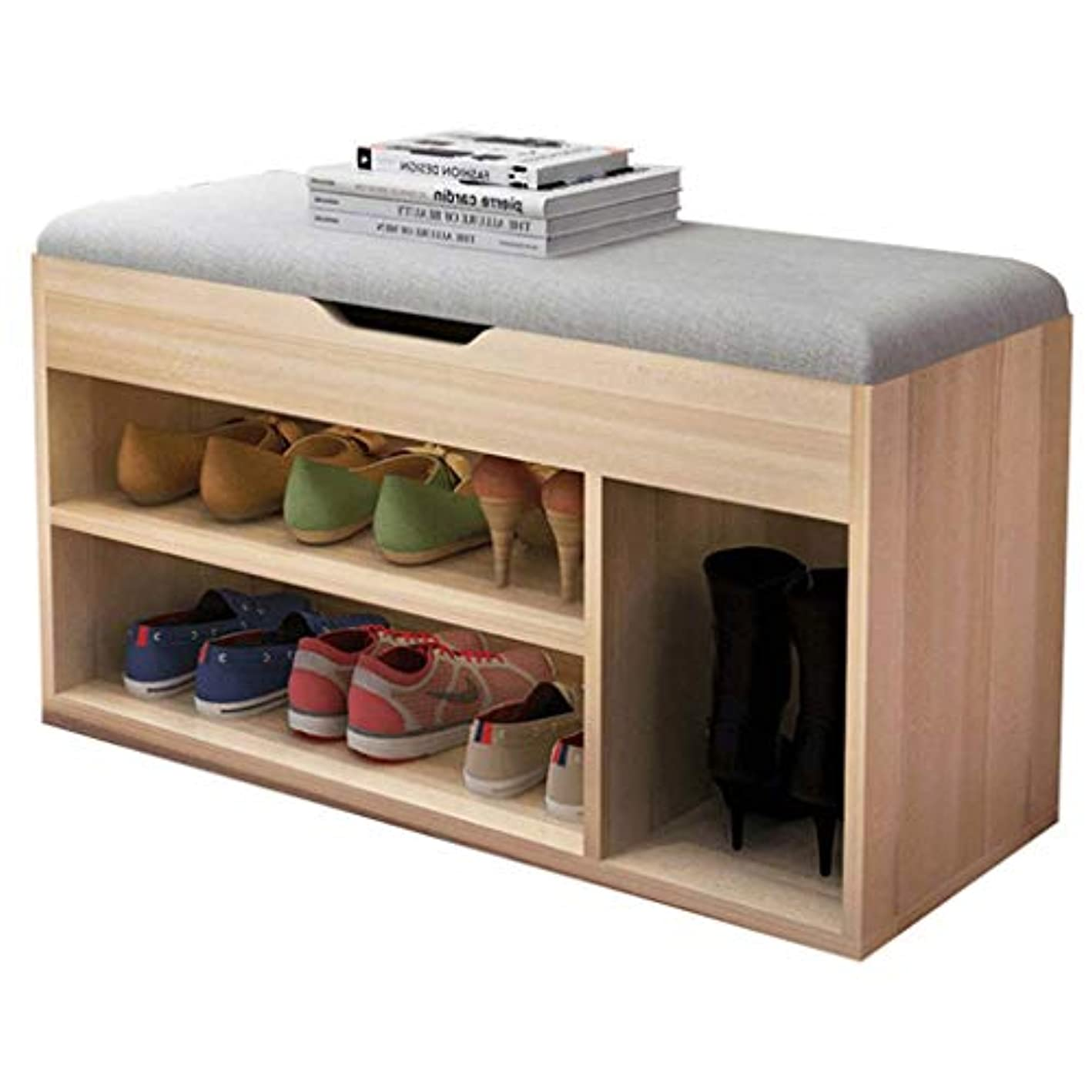 EGCLJ Entryway Ottoman Footstool - -Tier Rack for Storage Box & Shoes -Shoe Organizer,Storage Shelf,Holds Up to 150KG,Ideal for Bathroom Living Room and Corridor