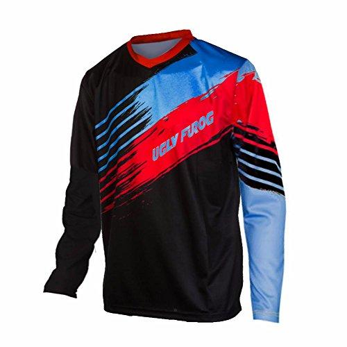 Uglyfrog V-Collar Long Sleeve Sports Jersey Frühling Motocross Downhill Trikots Enduro Cross Motorrad MTB Shirt