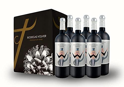 BODEGAS Y VIÑEDOS VOLVER | Vino Tinto Wrongo Dongo | Pack de 6 Botellas | Cosecha 2020 | Variedad Monastrell | Vino de Jumilla | Crianza de 6 Meses en Barrica | (6 Botellas de 750 ml)