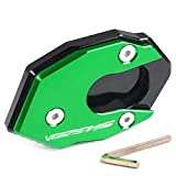 Motociclo di Alluminio di CNC Cavalletto Laterale Estensione Piastra Cavalletto Zoom Estensione Pad/Fit for Kawasaki Versys 1000 VERSYS1000 KLE1000 (Color : Green Black)