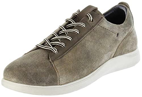 Bergheimer Trachtenschuhe Halbschuhe Sneaker braun Velourleder Herren Schuhe Lachtal Jungle, Farbe:braun, Größe:42 EU