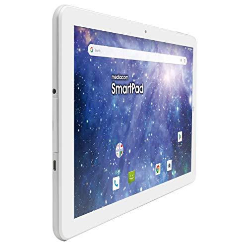 "Mediacom Tablet 8"" 3G memoria 8 GB Wifi GPS Android 8.1 Bianco iyo8 M-SP8AY"
