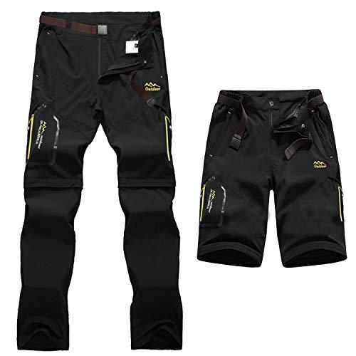 7VSTOHS Pantalones de Senderismo de Secado rápido para Homb