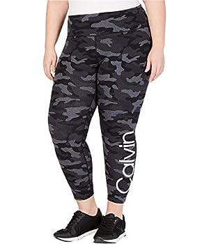 Calvin Klein Womens Logo Yoga Pants Grey 1X