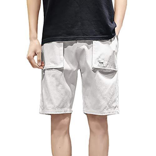 Zarupeng heren bermuda cargo shorts zomer baggy strand surfen shorts straight legg vrijetijdsshorts grote maat elastische sport shorts