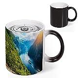 Color Changing Coffee Mug Norwegian Views Norway Sunny Mountain Heat Sensitive Tea Cup Magic Colour Changing Mugs Novelty Birthday Christmas Gift 11 Oz