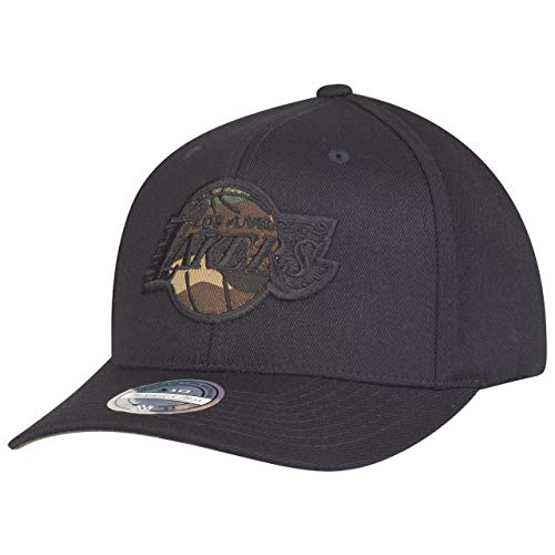 Mitchell & Ness - Cappello Snapback, motivo mimetico, con logo L.A. Lakers, colore nero Nero Taglia unica
