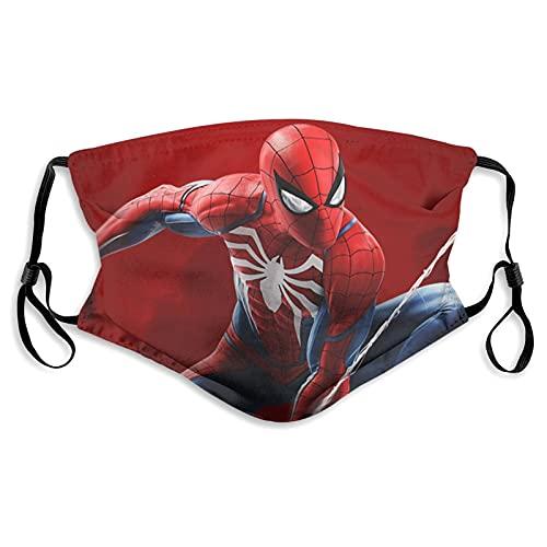 Máscara de impresión unisex Spider-man Offi-cial Ma-rvel a prueba de viento decoraciones faciales ajustables oído para unisex