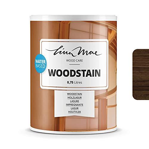Holzlasur (Lack) mit Matte Oberfläche Wasserbasiertem - Offenporiger Protektor für Dekorieren und Schützt Frischholz und Altholz Ideal für Stühle, Türen und Tische (750 ml, Nussbaum)