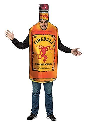Rasta Imposta Disfraz de botella de bola de fuego para adultos