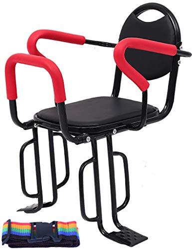 Hmwxbs Asiento Infantil para Bicicleta, Asiento Trasero De Seguridad para Bebés con Cinturón De Seguridad, para Mayoría De Las Bicicletas Eléctricas De Carretera Plegables De Montaña,E1