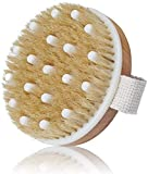 Dry Body Brush for Women Exfoliation, Dry Brush for Cellulite and Lymphatic Bath Brush Body Scrubber with Natural Bristles and Massage Nodules for Post-Workout Recovery Relief