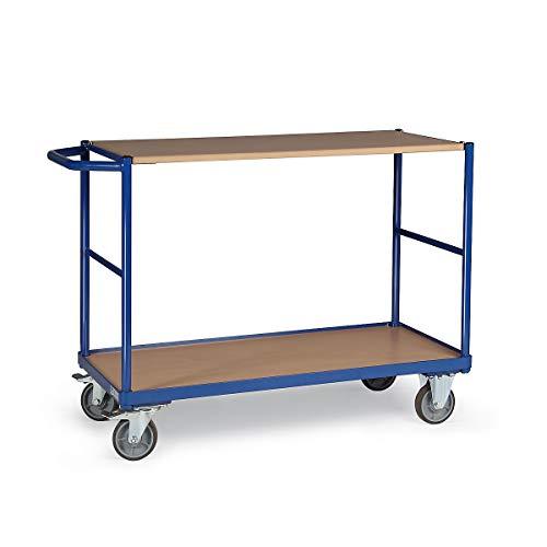 grau Multifunktionaler Materialwagen mit Stahlwanne 2 Regalb/öden mit 181 kg Traglast Basics