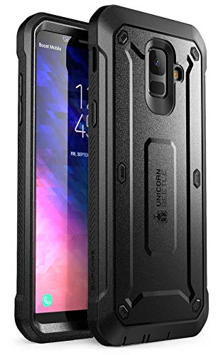 SUPCASE Full-Body Rugged Holster Case for Samsung Galaxy A6, with Built-in Screen Protector for Samsung Galaxy A6 (2018 Release), Unicorn Beetle Pro Series - Retail Package (Black)