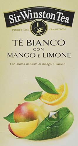 Sir Winston Tea, Tè Bianco con Mango e Limone, Confezione da 3 x 20 bustine, 75 g