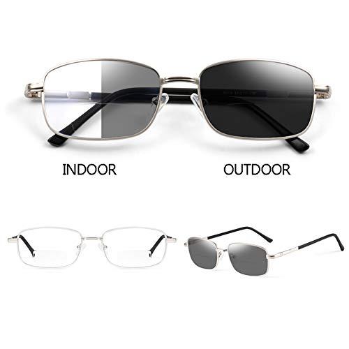 ELLENS Unisex Lesebrille - Klassische Vintage-Stil Multi-Focus Verfärbung Lesebrille-Outdoor-Lesung-Anti-Blaulicht-Brille