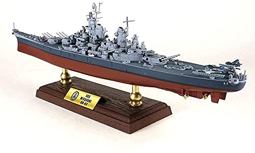 N-T Die Cast Warship Model 1/700 Scale USS Missouri BB-63 Battleship Plastic Model Adult Toys And Gift 14 6Inch X 2Inch