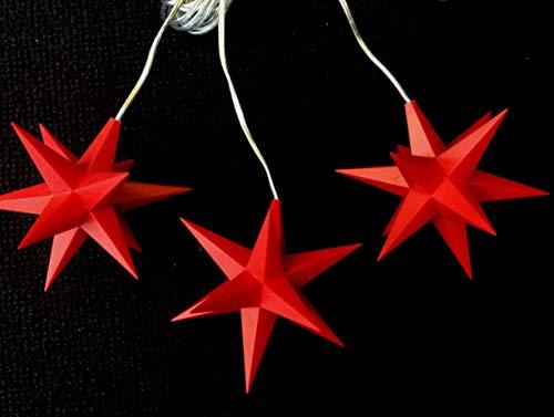 Importeur Pagoda GmbH Leuchtsterne StarLED Lichterkette 3er Set rot