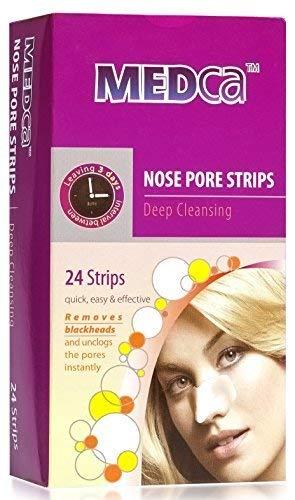 MEDca Tiras de poros de nariz de limpieza profunda, 24 cuent
