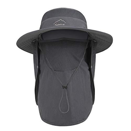 TAGVO Cappelli alla Pescatora da Uomo Donna con Coperchio Viso Staccabile, Cappellini UPF 50+ da Esterno, Campeggio Escursionismo A Passeggio Cappello da Sole Cappelli da Escursionismo Pieghevoli