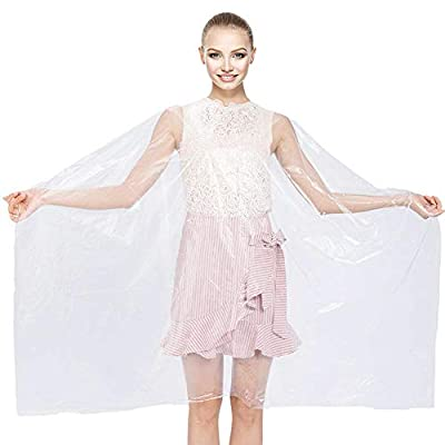 """50Pcs Waterproof Hair Cutting Capes Disposable, Haircut Barber Cape, for Women & Men Hair Salon Coloring Dyeing, Hairdresser Cape Transparent 59"""" x 51"""""""