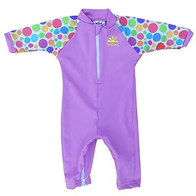 Nozone Fiji Sun Protective Baby Girl Swimsuit in Lavender/Polka Dot, 12-18 Months